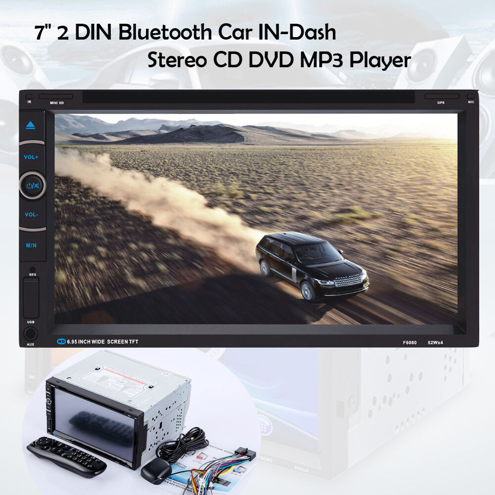 7 2 din bluetooth car stereo cd dvd mp3 player tv gps. Black Bedroom Furniture Sets. Home Design Ideas