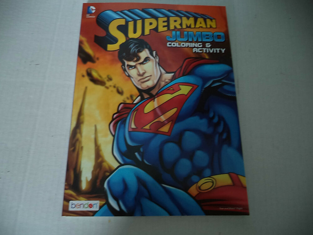 Superman Jumbo Coloring And Activity