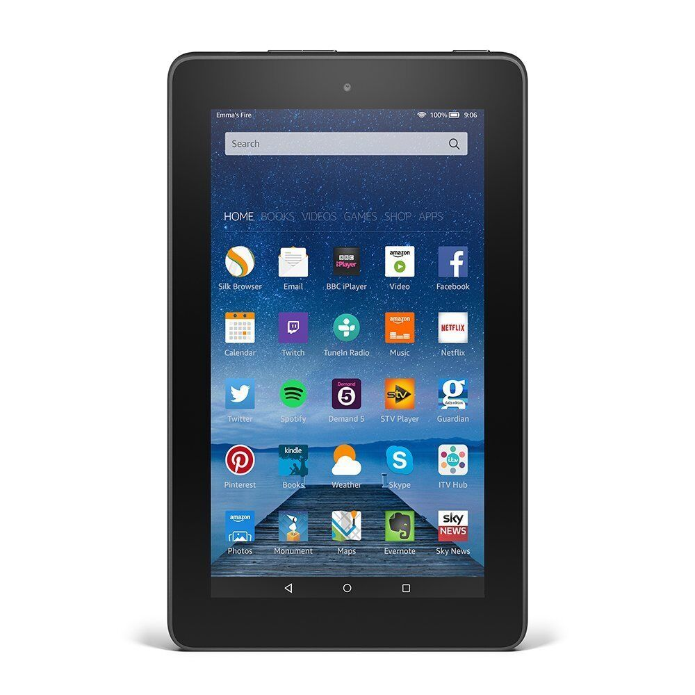 amazon kindle fire 7 tablet 8gb quad core 1 3ghz sv98ln black ebay. Black Bedroom Furniture Sets. Home Design Ideas