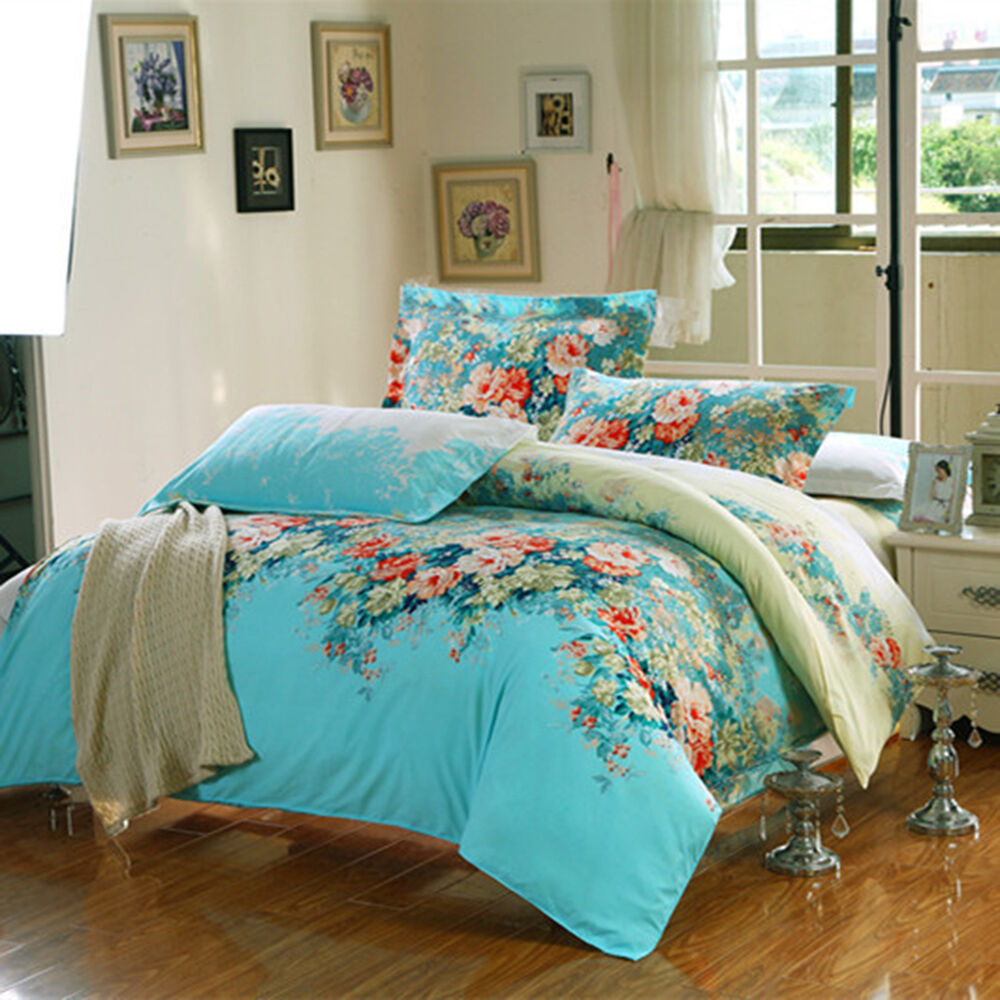Bedding Sets King Queen Full Size Duvet Cover Bed With