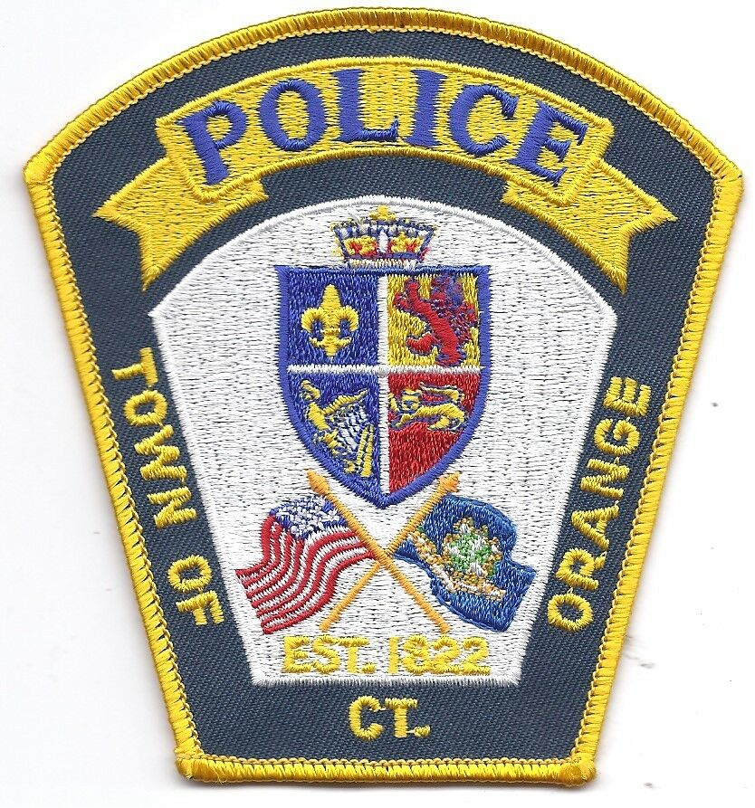 **ORANGE CONNECTICUT POLICE PATCH**