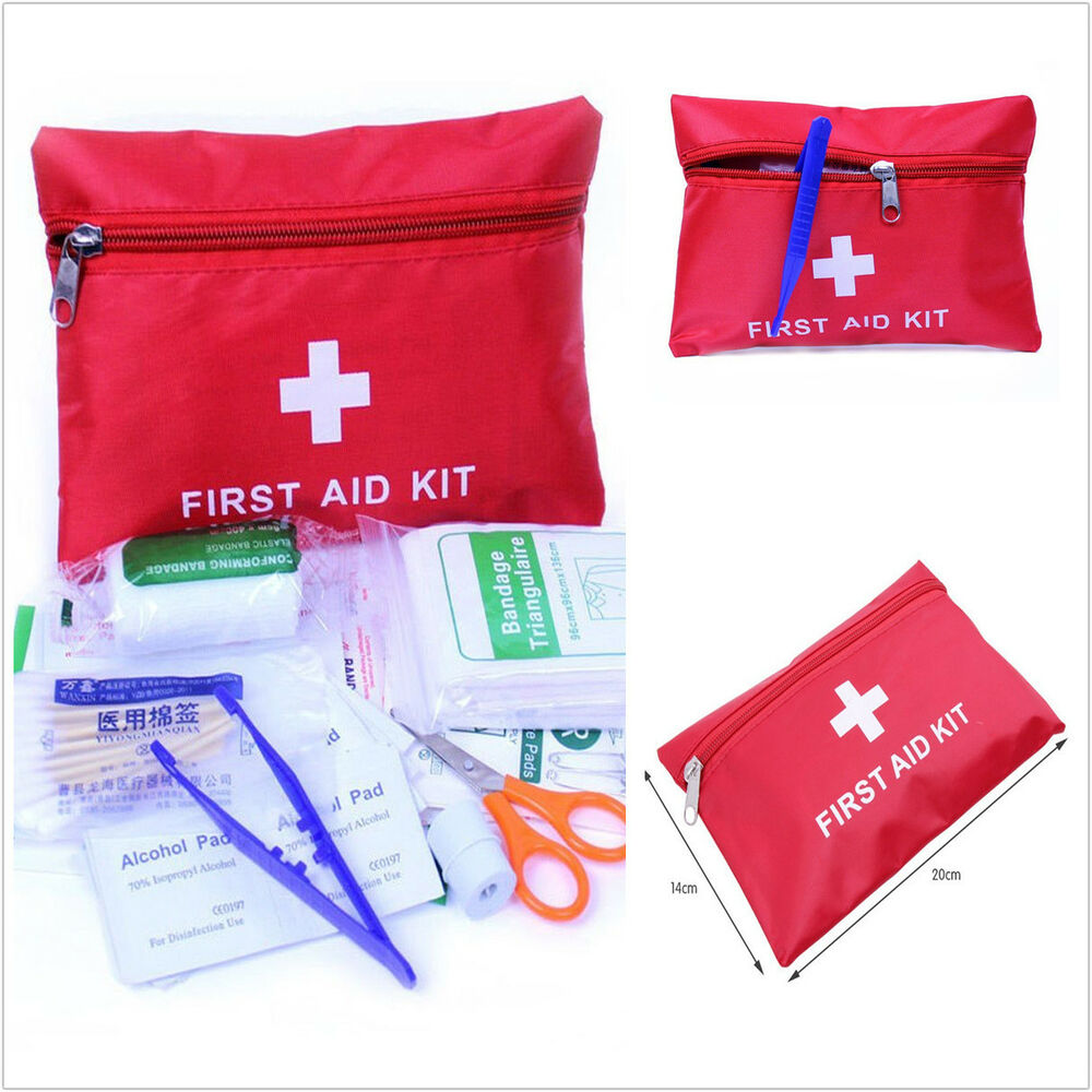 Xterra First Aid Kit >> 38 pc First Aid Kit Emergency Bag Home Car Outdoor Survival Red Cross Guide Set | eBay