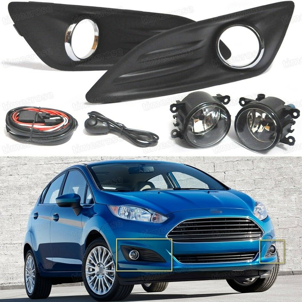 2013 Ford Fiesta: Bumper Fog Lights Driving Lamp + Cover + Switch Set For