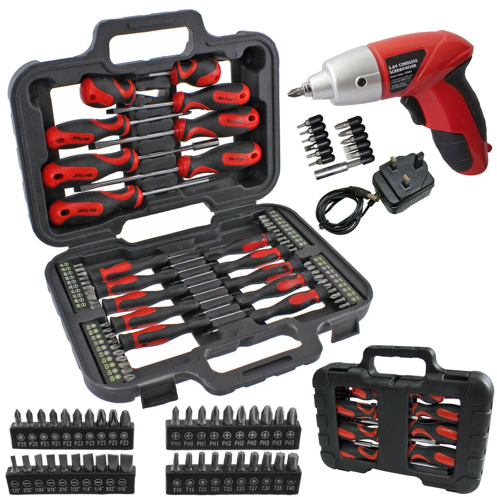 71 pce magnetic tip cordless screwdriver precision bit set phillips pozi torx ebay. Black Bedroom Furniture Sets. Home Design Ideas