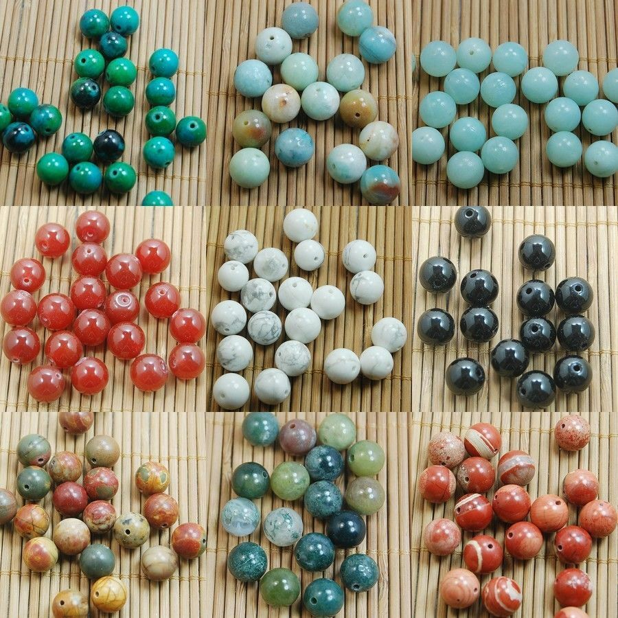 wholesale natural gemstone round spacer beads 10mm
