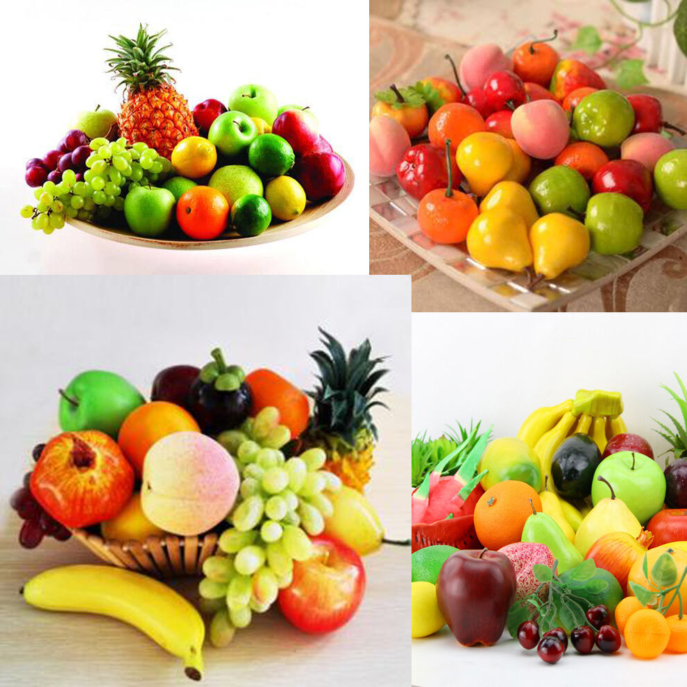 Life like decorative plastic artificial fake fruit home for Artificial fruit for decoration