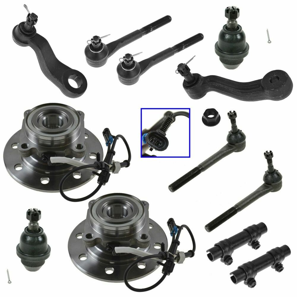 12 Piece Steering & Suspension Kit Ball Joints Tie Rods