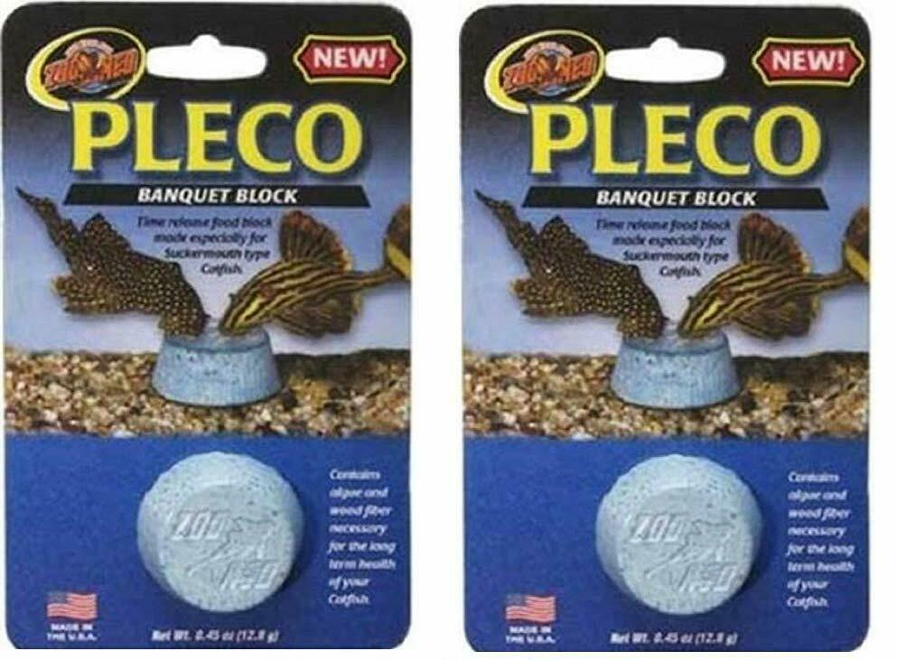 Zoo med pleco banquet regular size block release feeder for Pleco fish food