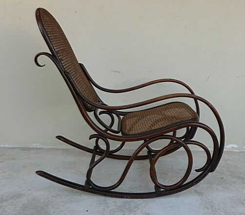 AUTHENTIC ORIGINAL COND SIGNED THONET BENTWOOD ROCKER