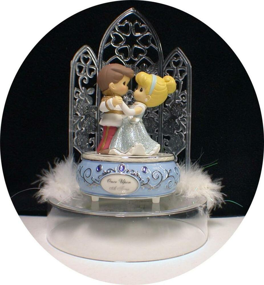 Cinderella Prince Charming Disney Wedding Cake Topper W Music Box Once Upon A