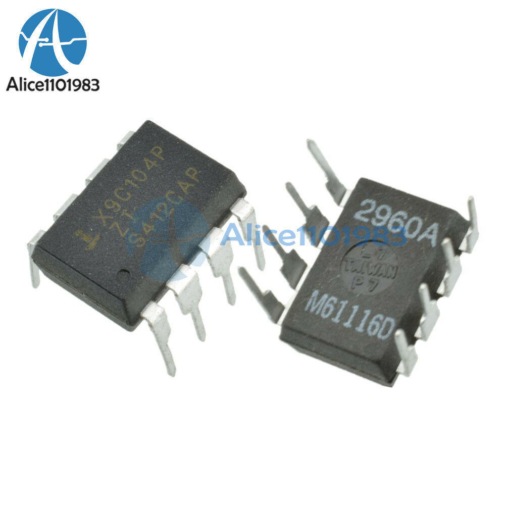 10pcs new x9c104p dip 8 x9c104 digital potentiometer ic ebay. Black Bedroom Furniture Sets. Home Design Ideas