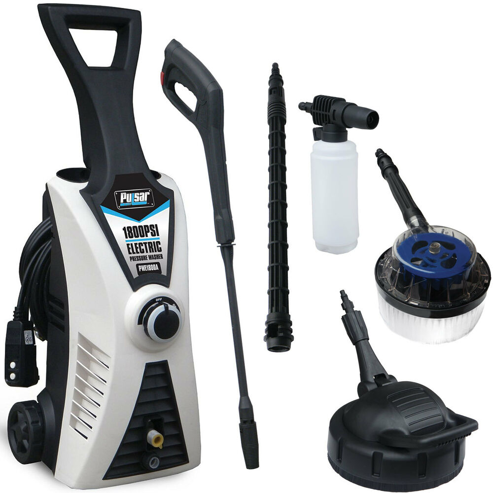 Pulsar 1800 Psi Electric Pressure Washer With Accessory