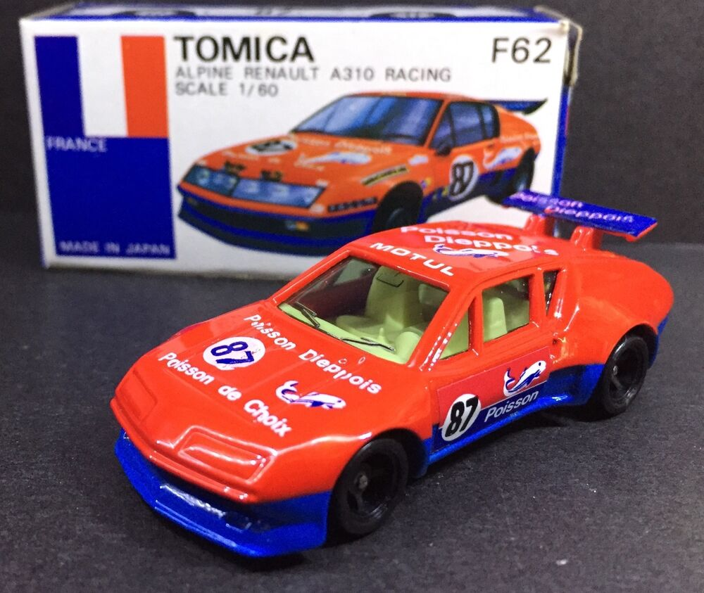 MADE IN JAPAN TOMY TOMICA F62 ALPINE RENAULT A310 RACING