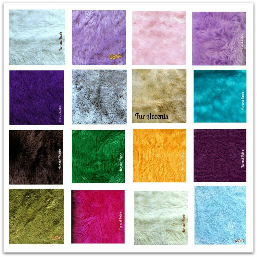 Faux Fur Swatch Color Cutting Sample Ebay