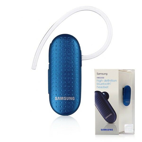 New Headset Wireless Smart Phone Stereo Music For: NEW Samsung HM3350 Bluetooth Wireless Headset HD Voice