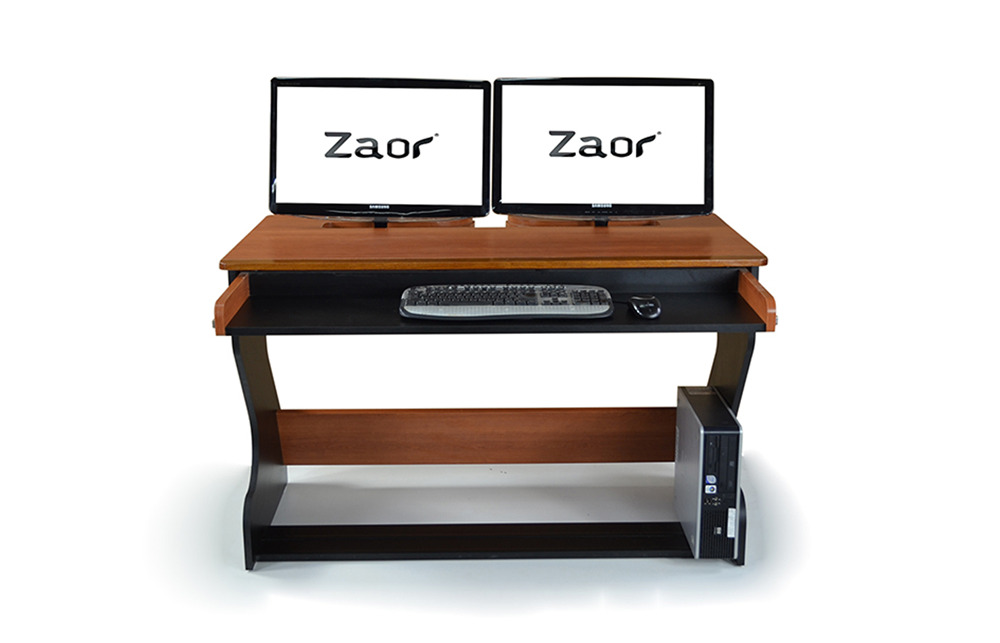 Zaor Miza Jr Compact Studio Workstation Desk Black