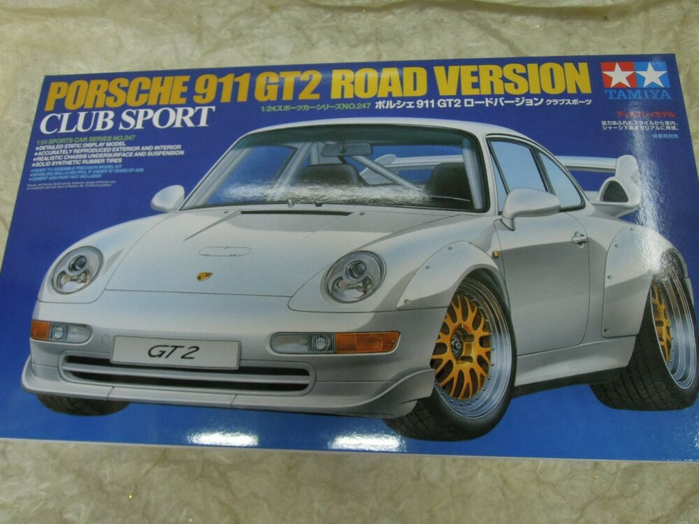 tamiya 1 24 porsche 911 gt2 road version model car kit. Black Bedroom Furniture Sets. Home Design Ideas