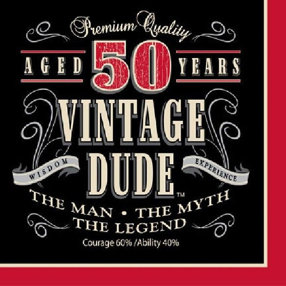 50th Birthday Party Supplies (Age 50) LEGEND VINTAGE DUDE