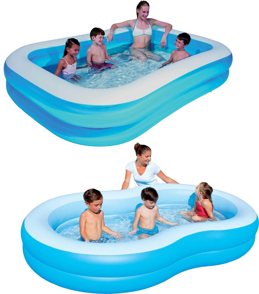 bestway family pool planschbecken swimmingpool kinder kinderpool schwimmbecken ebay. Black Bedroom Furniture Sets. Home Design Ideas