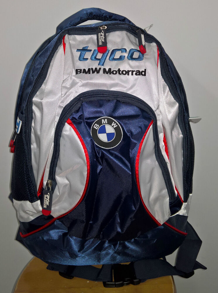 official 2016 tyco bmw motorrad tas racing bsb backpack ebay. Black Bedroom Furniture Sets. Home Design Ideas