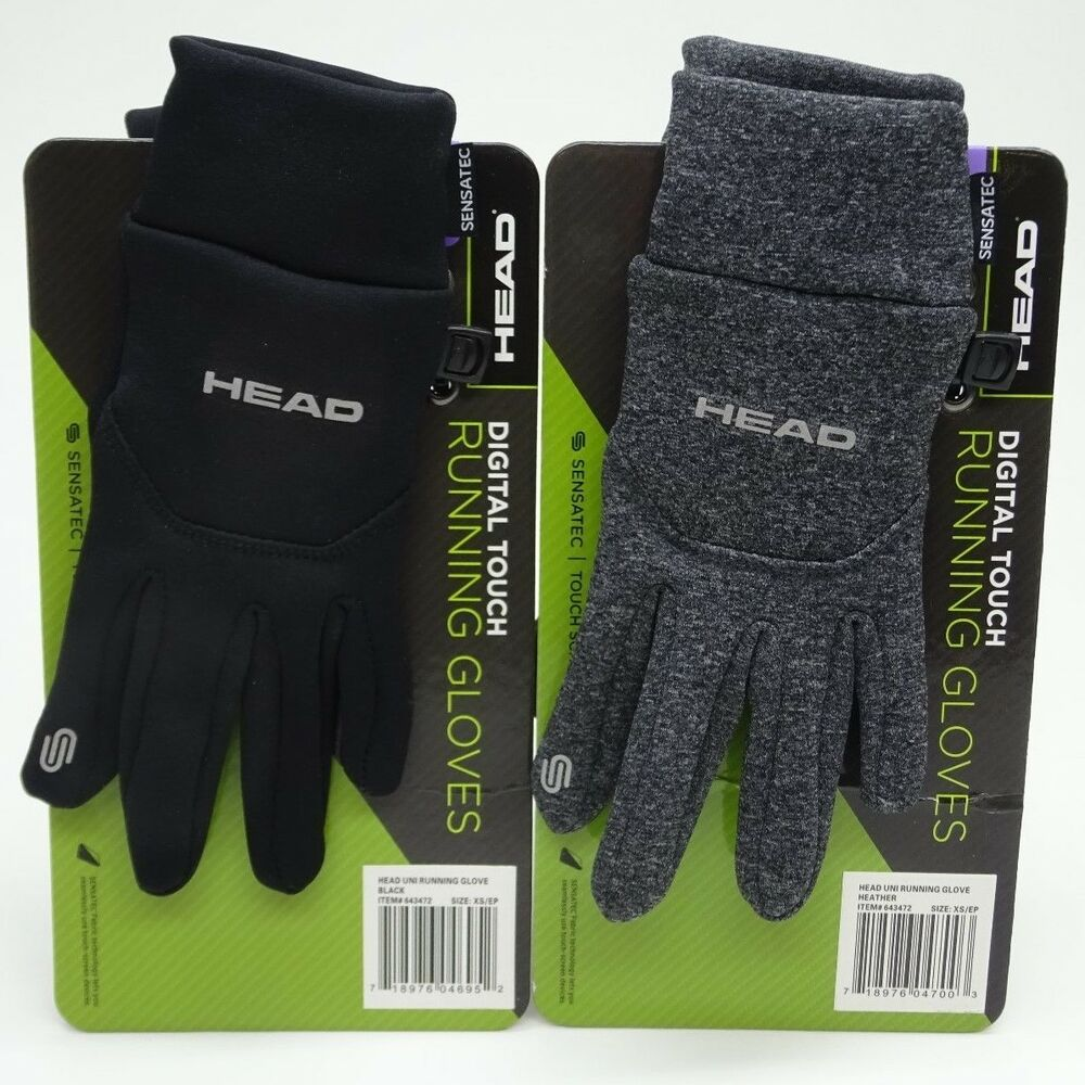 Head Multi Sport Gloves With Sensatec Black Large: Men's Head Digital Sensatec Touch Screen Running Gloves