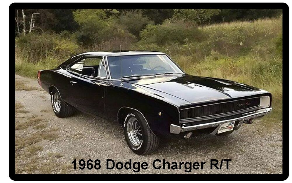 1968 Dodge Charger Rt Auto Refrigerator Tool Box Magnet