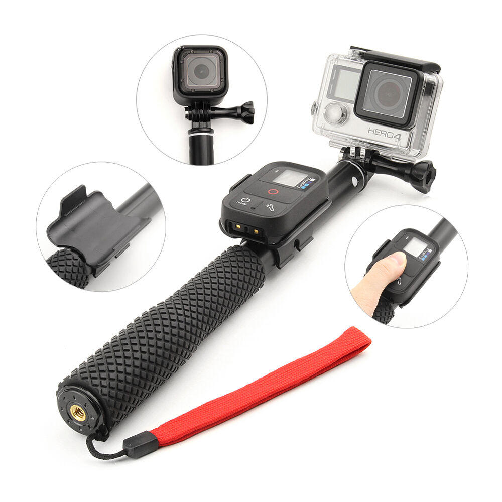 For GoPro Hero 4 3+ 3 Smart Phone Selfie Stick Extendable