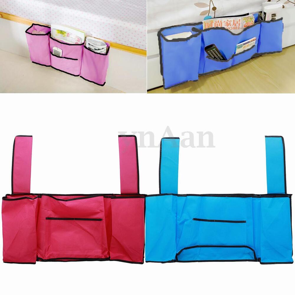 Bedside hanging storage bag caddy pocket home bed sofa for Sofa organizer