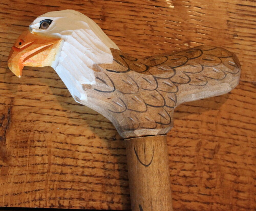 Cane eagle walking hiking custom stick quality hand carved