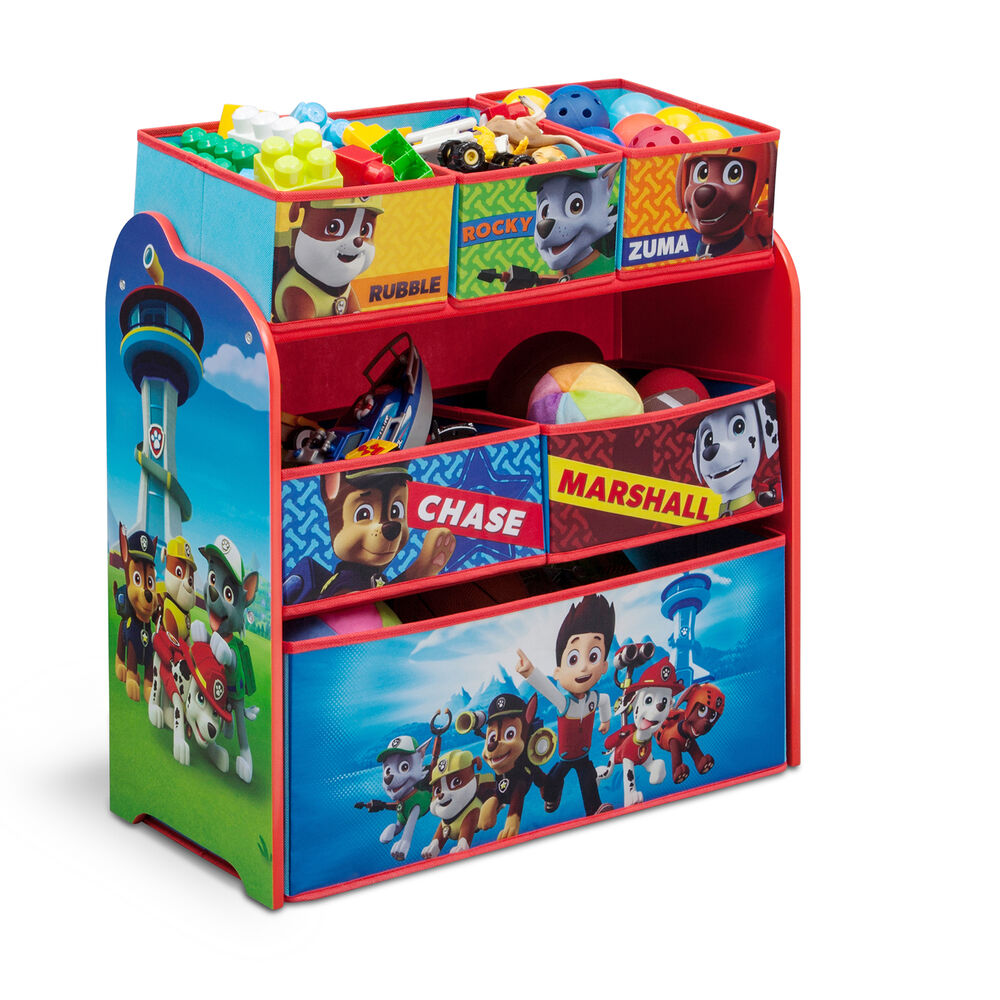 Kids Bedroom Furniture Kids Wooden Toys Online: NEW DELTA CHILDREN PAW PATROL WOODEN MULTI-BIN TOY