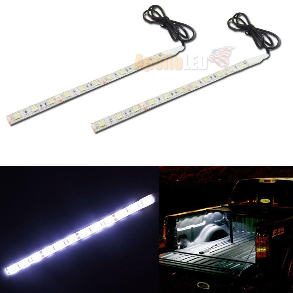 2x 12smd white led car strip light for diy dome interior exterior trunk lighting ebay for Led car interior lights ebay