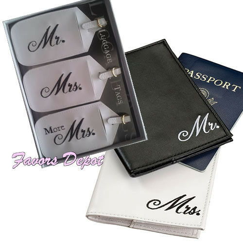 ... . Passport Covers and Luggage tags wedding gift bridal shower eBay