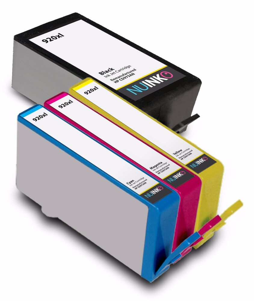 4pk replacement hp 920xl ink cartridge for hp officejet 7500a 6500a plus 6000 ebay. Black Bedroom Furniture Sets. Home Design Ideas