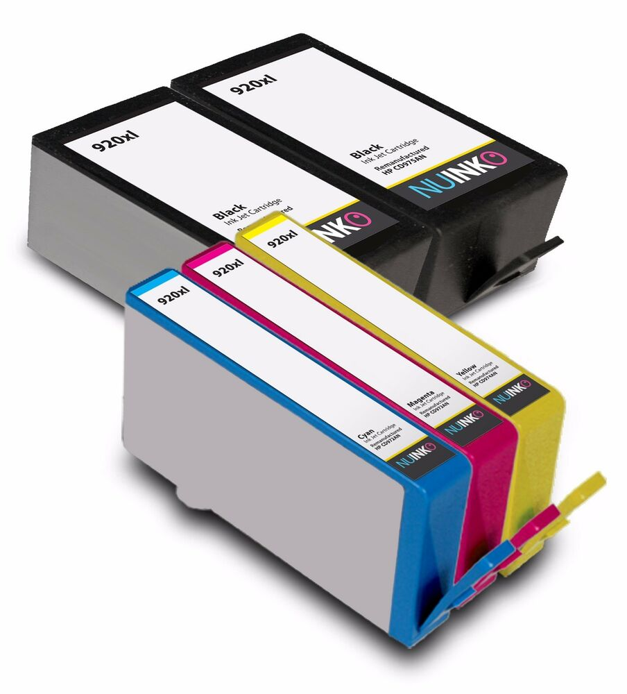 5pk replacement hp 920xl ink cartridge for hp officejet 7500a 6500a plus 6000 ebay. Black Bedroom Furniture Sets. Home Design Ideas