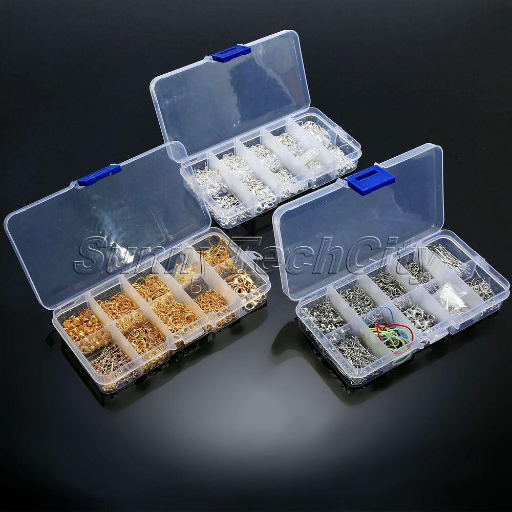 Jewelry making tools kits ball head pins lobster clasps for Earring supplies for jewelry making