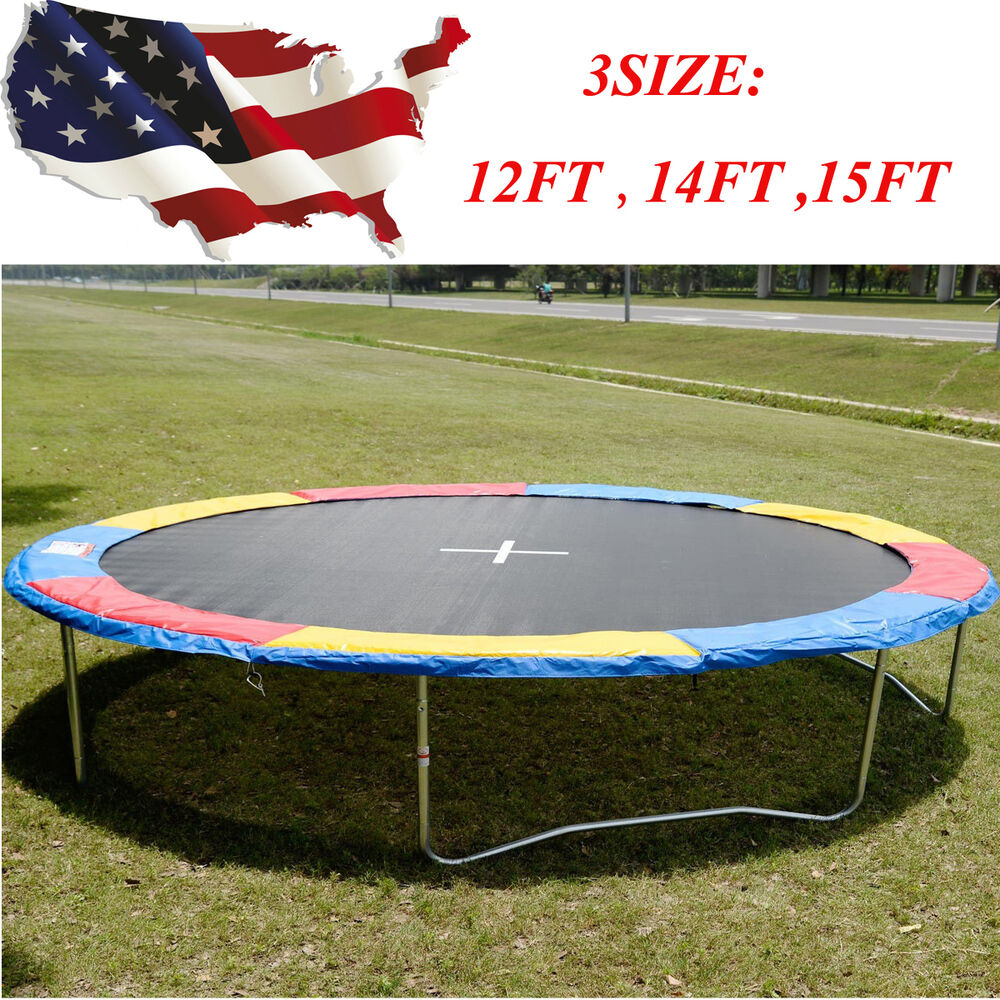 10 12 14ft Round Safety Frame Blue Pad Spring Pad: 12FT 14FT 15FT Trampoline Safety Pad EPE Foam Spring Cover