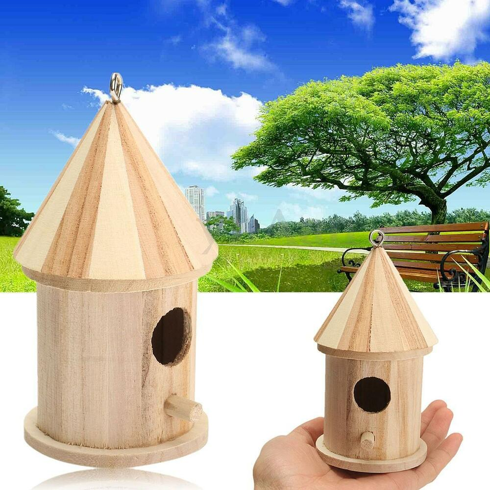 New Wooden Bird House Birdhouse Hanging Nest Nesting Box