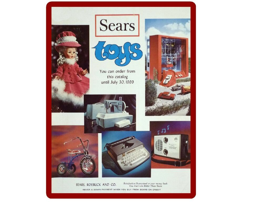 1969 sears toy catalog refrigerator tool box magnet ebay. Black Bedroom Furniture Sets. Home Design Ideas