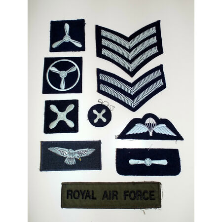 img-ROYAL AIR FORCE NO1 DRESS JACKET FABRIC BADGE - Raf mutiple badges available