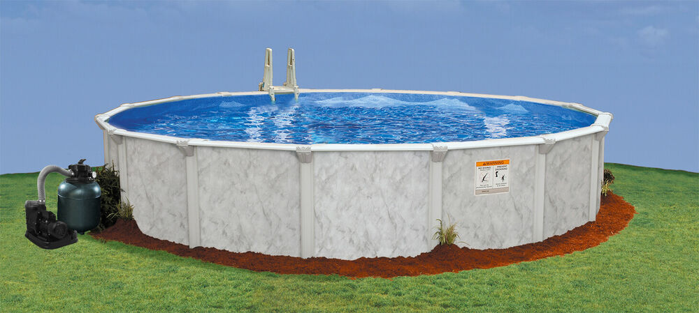 24 39 x 52 above ground pool complete package 20 yr for Above ground pool packages cheap