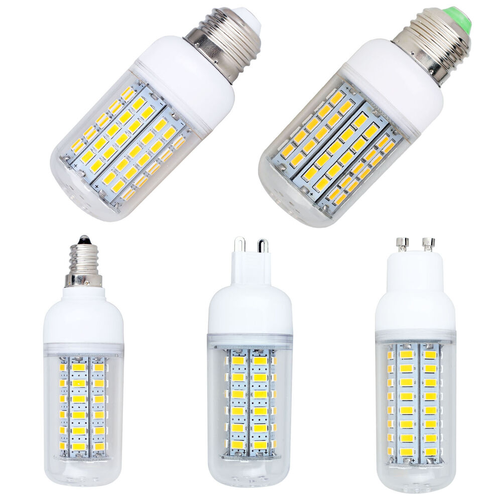 us ca 110v dimmable e26 e27 e12 g9 gu10 9w 22w smd 5730 led corn light lamp bulb ebay. Black Bedroom Furniture Sets. Home Design Ideas