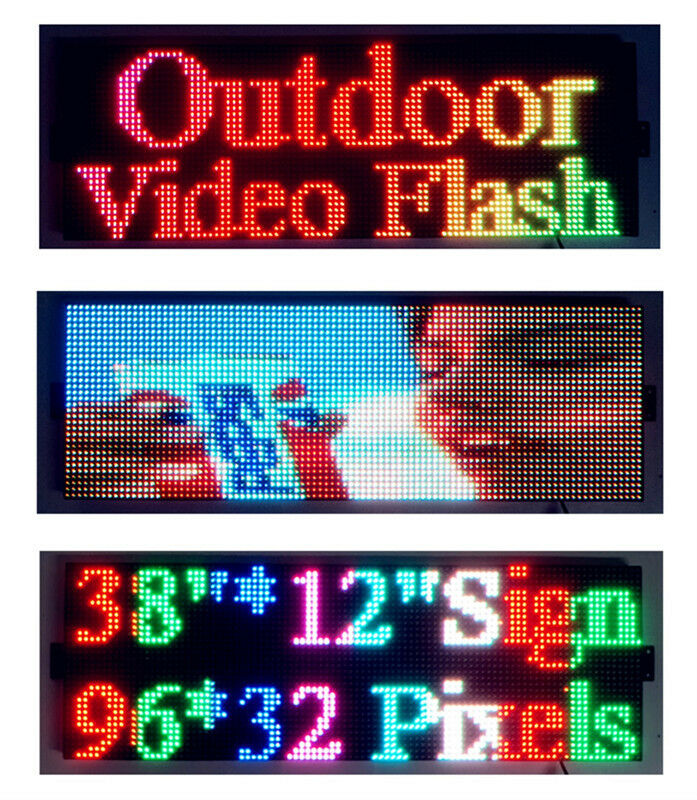 Outdoor Video Full Color 38 Quot X12 Quot Led Sign Programmable