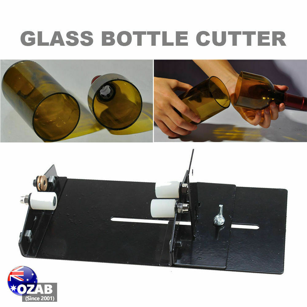 Glass bottle cutter kit jar cutting machine diy recycle for Diy wine bottle cutter