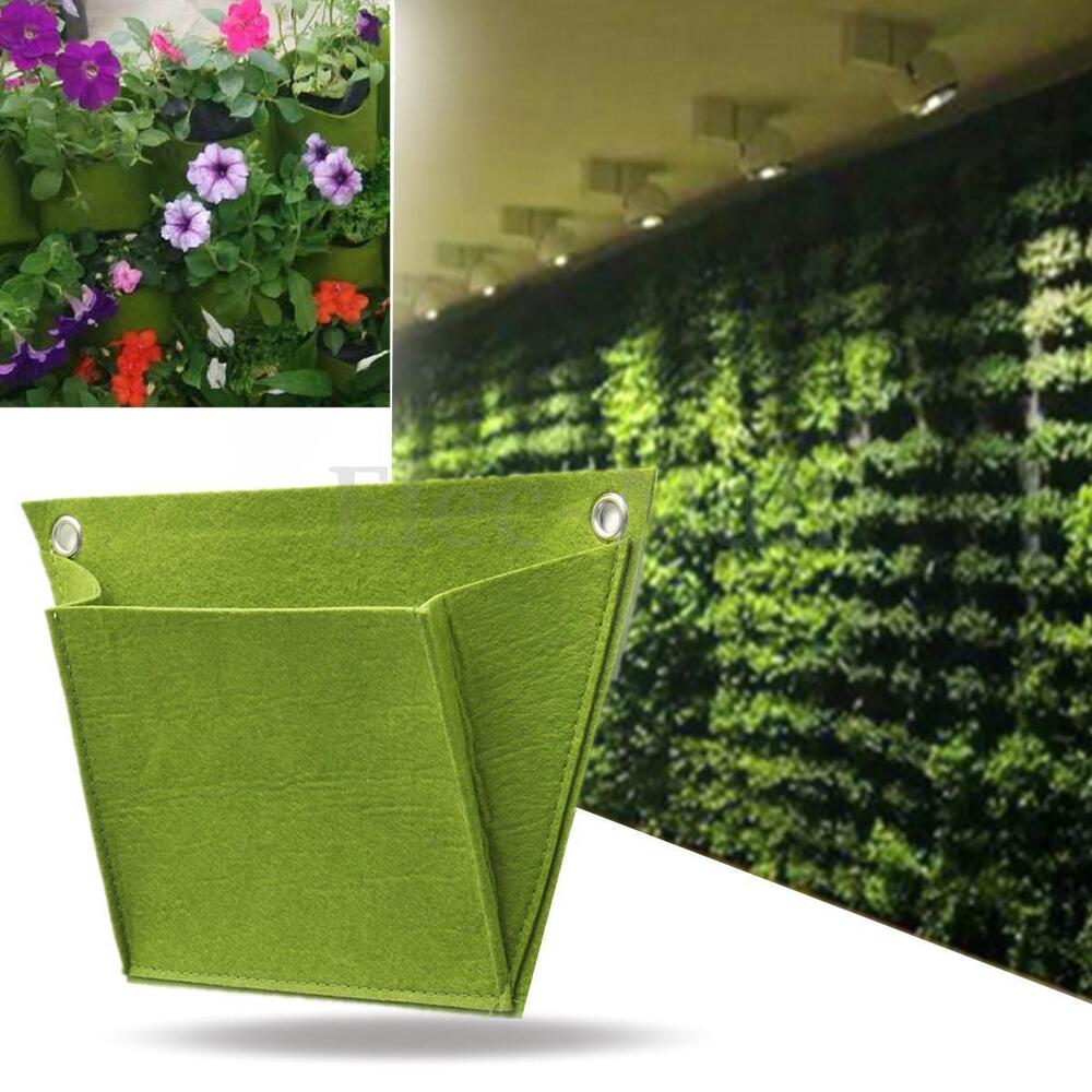 Non wovend durable outdoor indoor wall balcony herbs for Balcony hanging planter