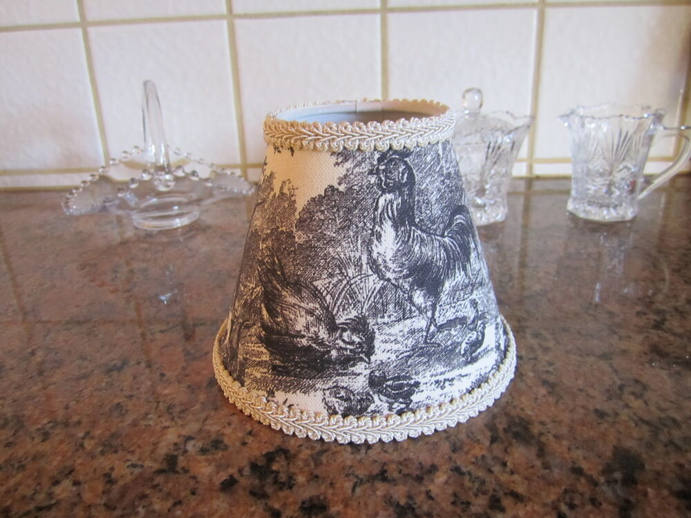 Waverly Black Petite Ferme Rooster French Country Toile