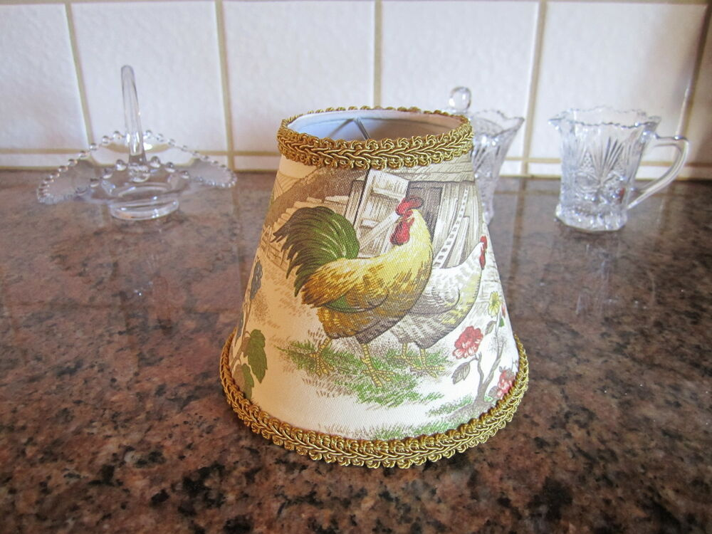 Kaufmann Gold Yellow Rooster Chicken French Country Toile