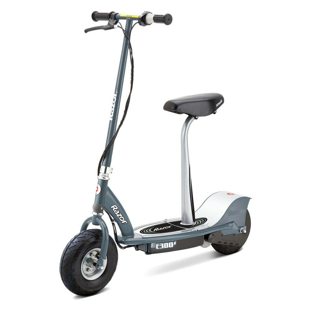 razor 13116214 e300s gray electric scooter w detachable. Black Bedroom Furniture Sets. Home Design Ideas