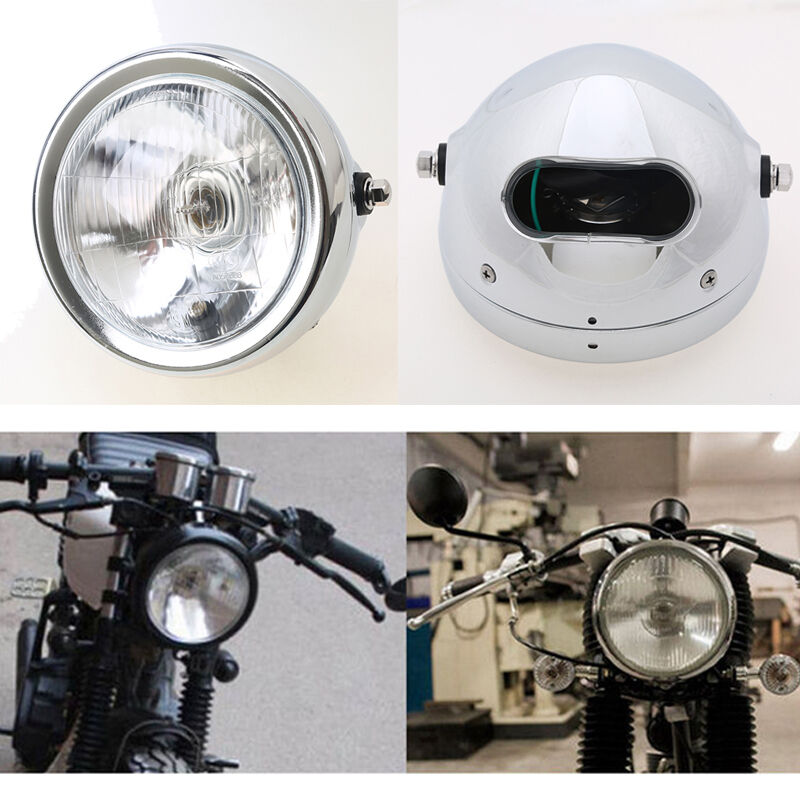 Cafe Racer Headlight Assembly : Retro motorcycle headlight headlamp high low beam for cafe