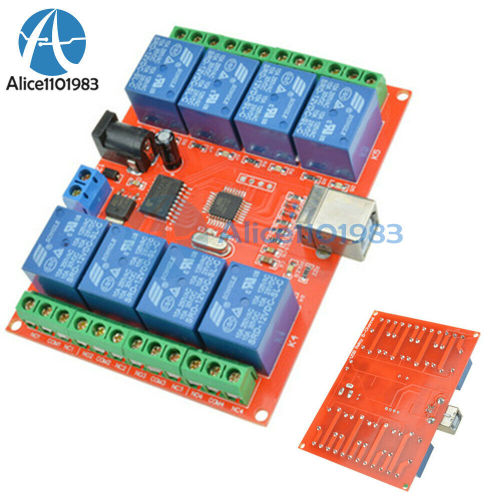12v Usb Relay 8 Channel Programmable Computer Control For