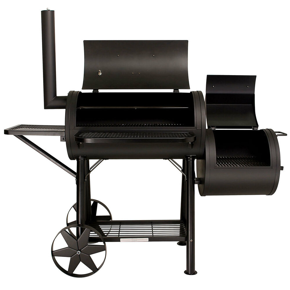 Taino yuma massiver smoker bbq grillwagen holzkohle grill for Grill holzkohle